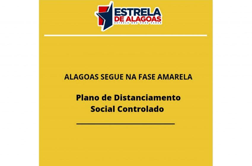 COVID-19: Alagoas segue na Fase Amarela