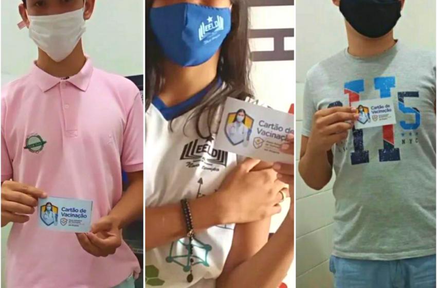 793 adolescentes já foram vacinados contra a COVID-19