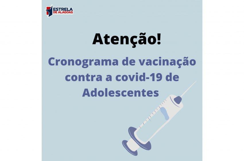 Cronograma de vacinação de adolescentes é divulgada